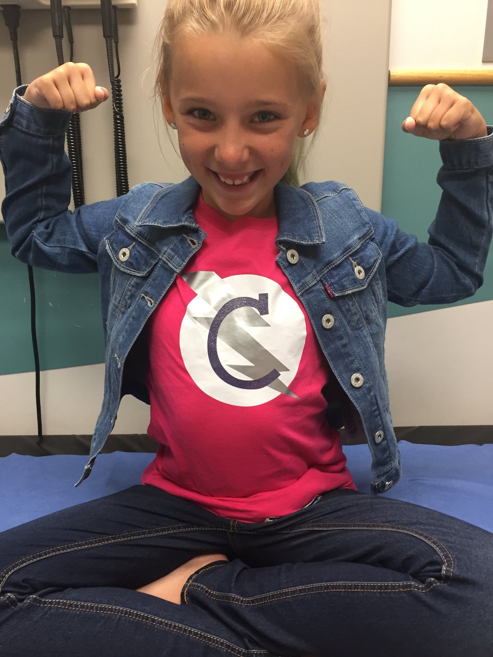 Super C at Riley Children's Hospital in Indianapolis, where we plan to only attend check ups from here on!