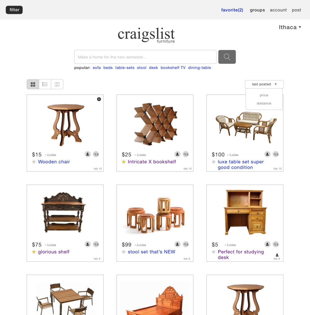 Create A Better Shopping Experience For Students Who Want To Buy Furniture  On Craigslist