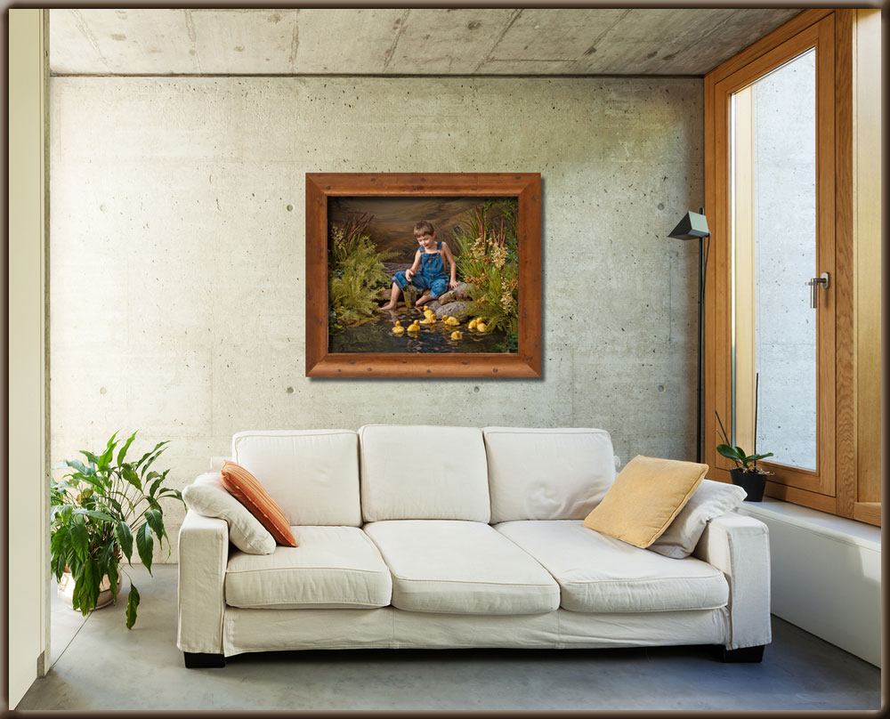 Send me a photo of the wall you wish to hang a photo on, and I can show you what it will look like including ideal size.