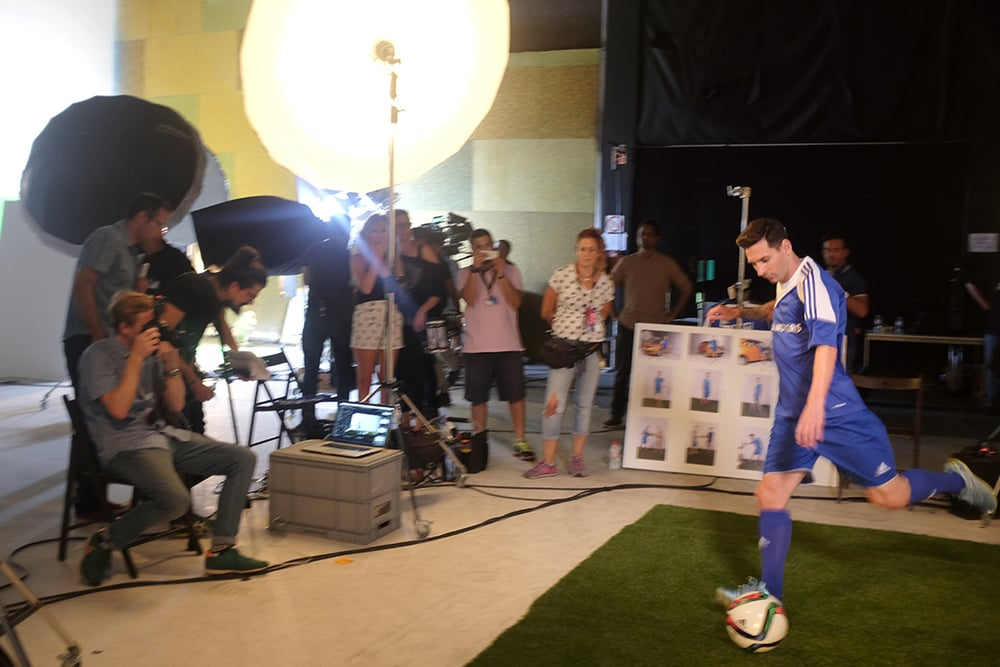 Recent shoot with the worlds best footballer Leo Messi.  Tata motors