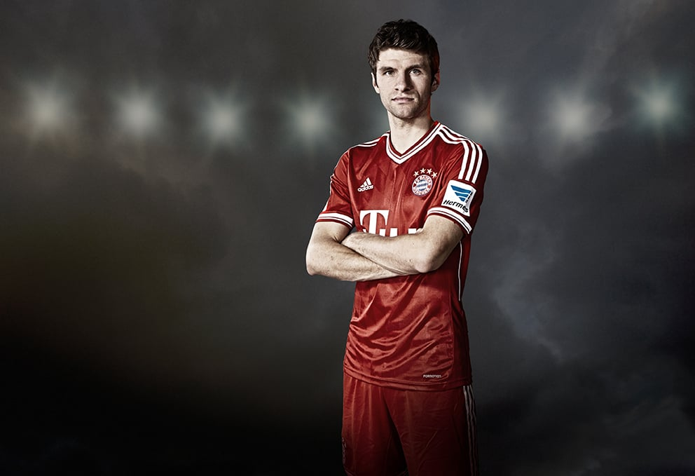 New work with Thomas Muller & The Bayern Munich team.