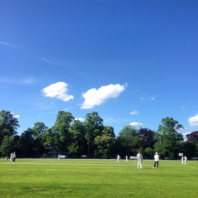 He's got him. #cricket #didsburycc