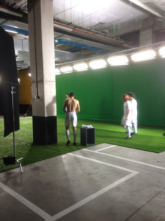 photo shoot with the Real Madrid players