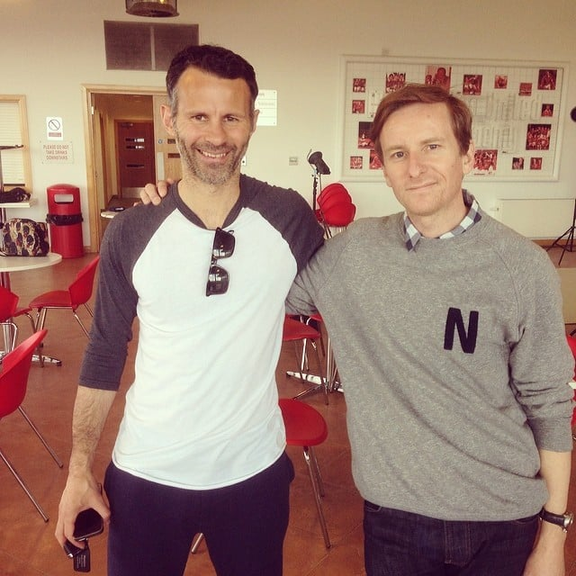 Mr Giggs and me on today's shoot.  #ryangiggs #manutd