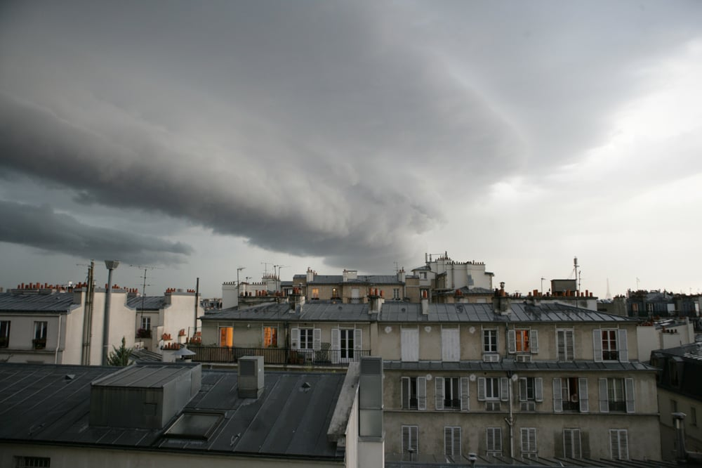 Stormy sky over Paris