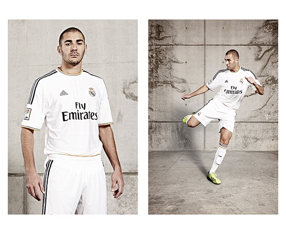 Benzema from a recent shoot at Real Madrid