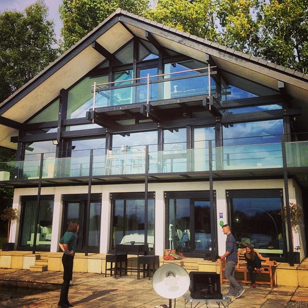 Today's shoot in this amazing HufHaus.