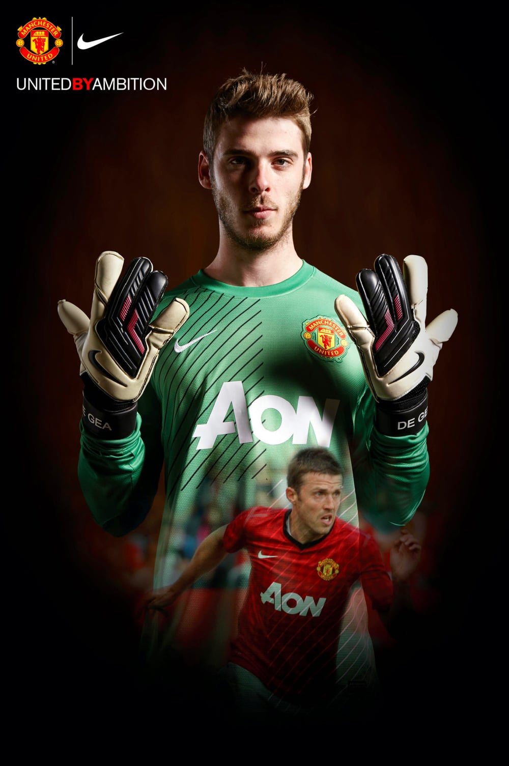 My New Utd shirt campaign shot last month with David de Gea