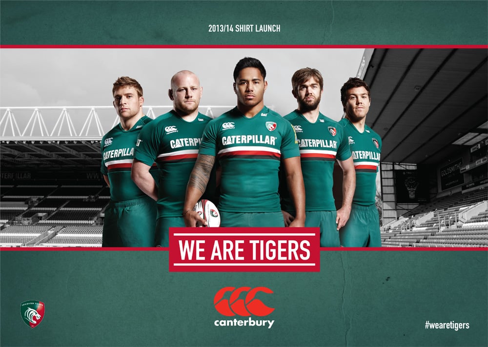 My shoot for the Leicester Tigers new kit launch.