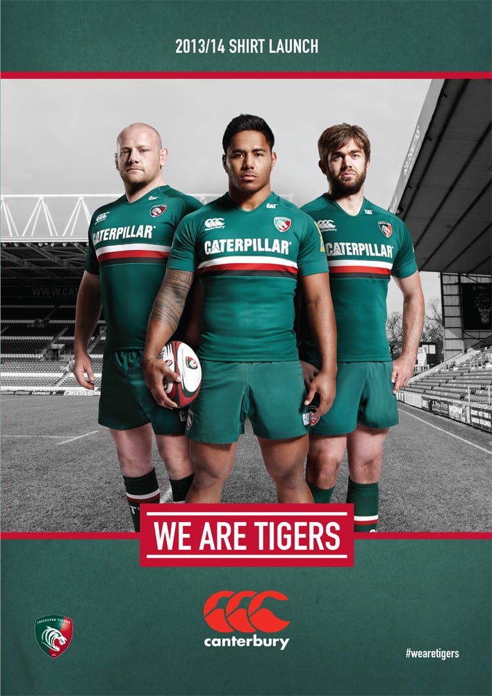 Shots used in the Leicester Tigers new kit launch.