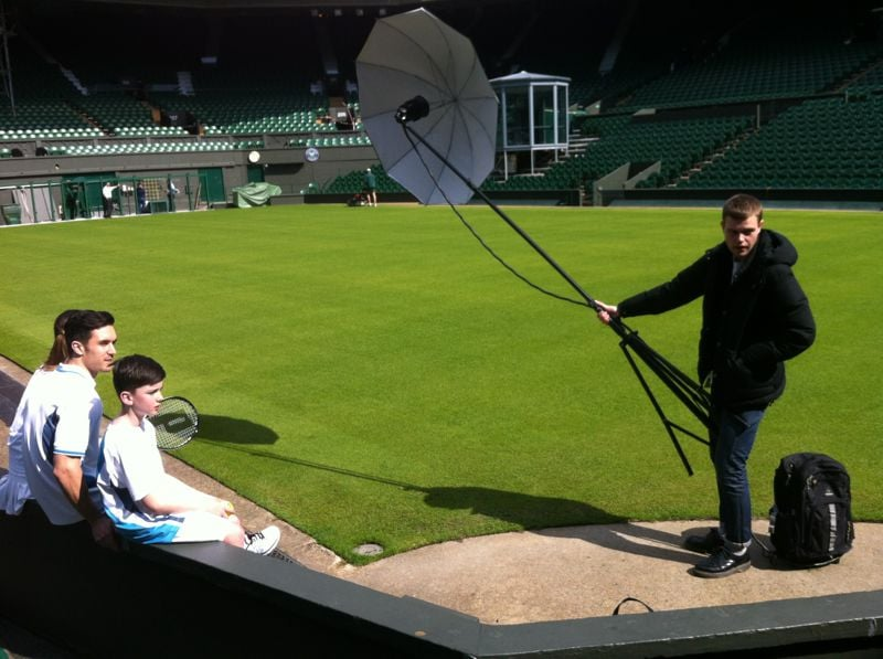 last weeks shoot on centre court wimbledon