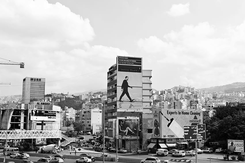 My Johnnie Walker Advert in central Beirut