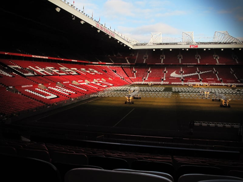 SHOOT AT OLD TRAFFORD, NEED TO GET THE LIGHTS OFF THE PITCH