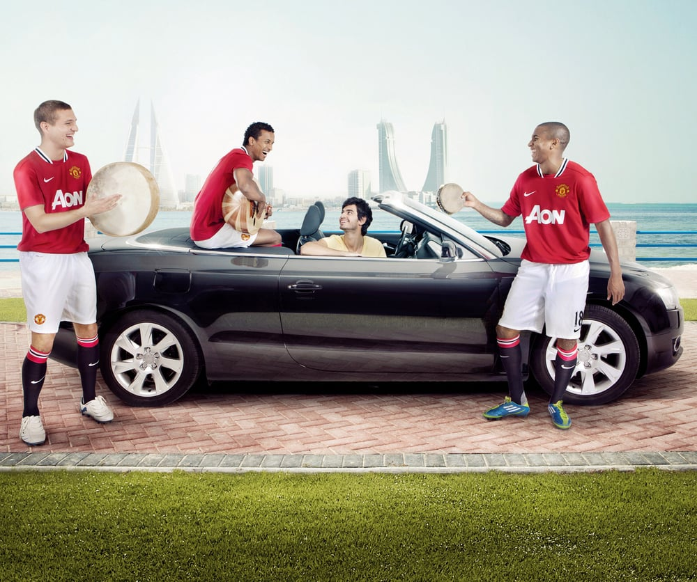 Image taken from a Manchester United campaign with Viva.