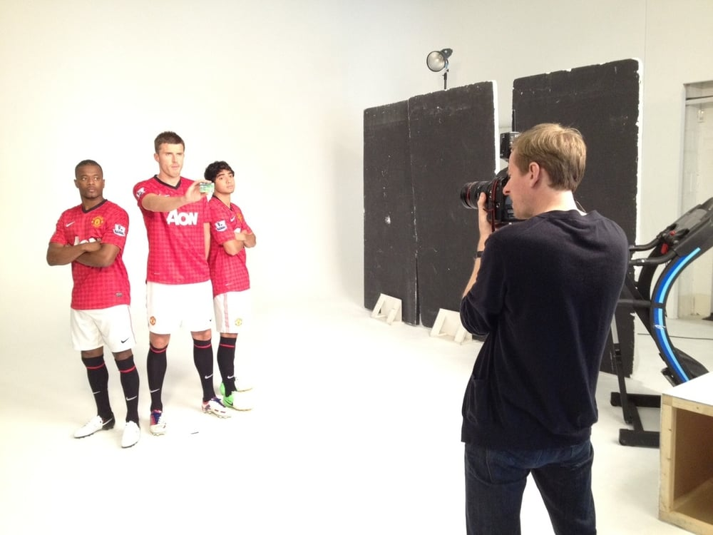 Utd Ad shoot for Viva last week