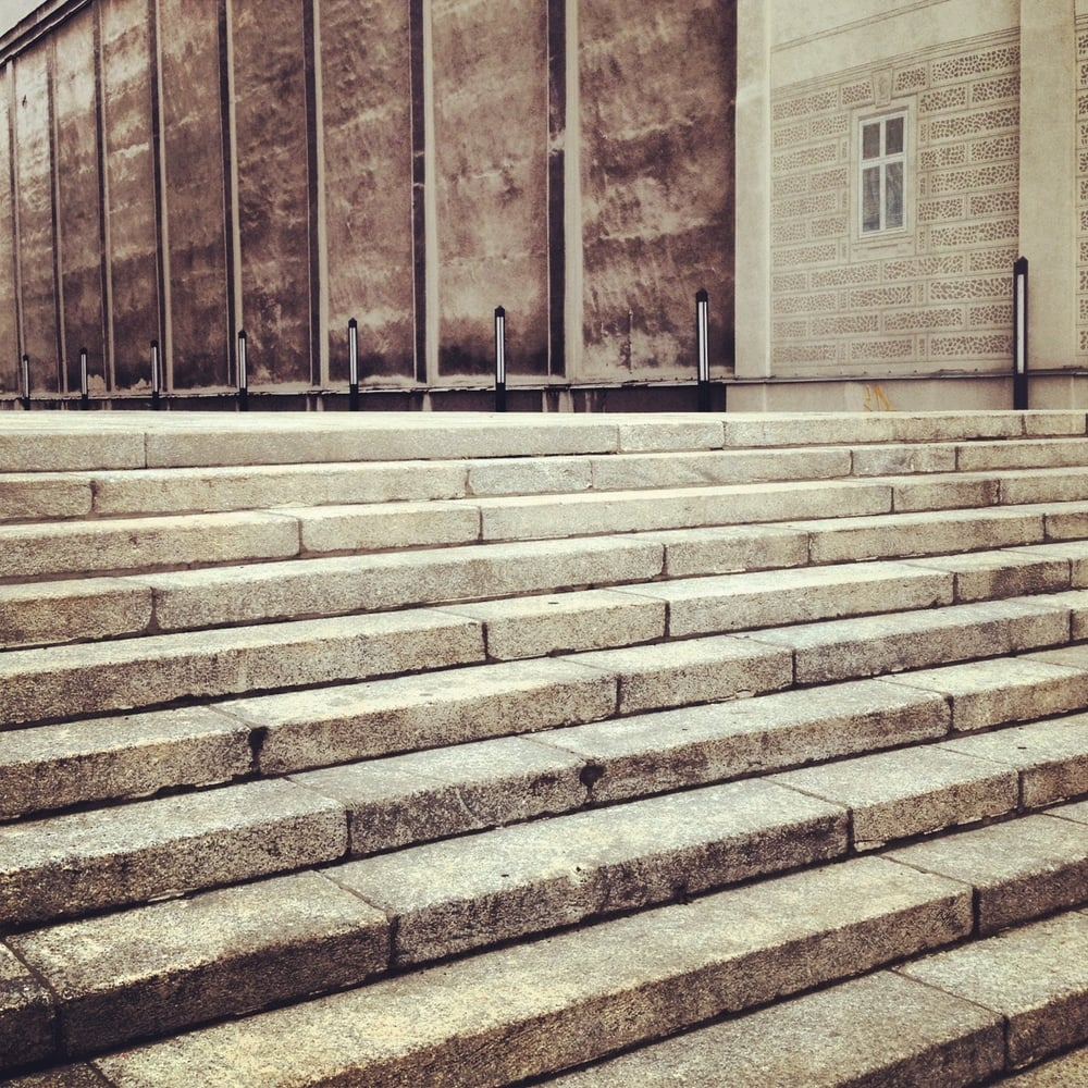 Steps in Warsaw, Poland.