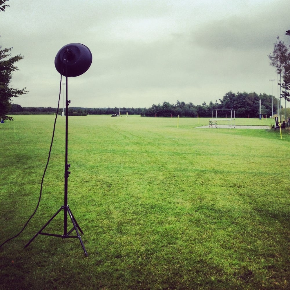 Calm before the storm. 7am start for my shoot with the Sale Sharks.