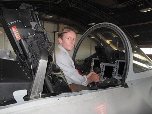 ME SAT IN THE TYPHOON FIGHTER BEFORE TAKE OFF. BOOYAKA