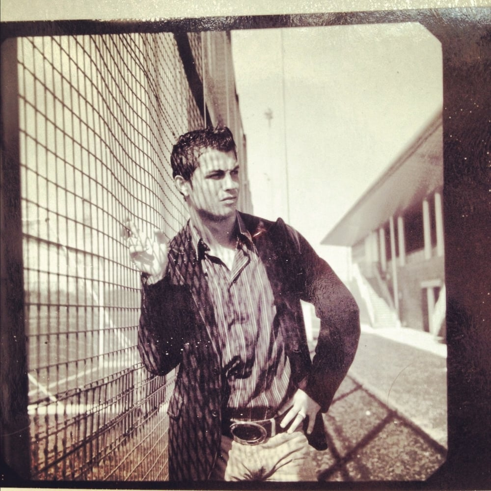 Old Polaroid from a shoot I did with Ronaldo. Found this morning at bottom of my draw