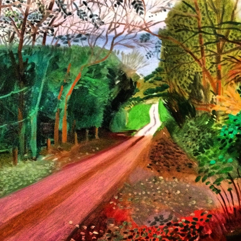 One of the amazing paintings from the David Hockney exhibition I went to yesterday