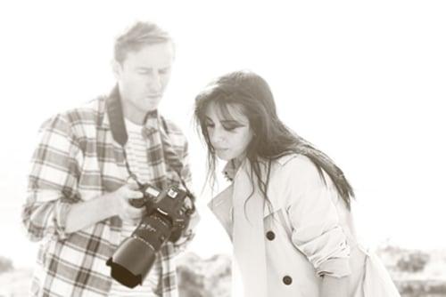 Me and Nadine Labaki on the shoot Byblos Lebanon
