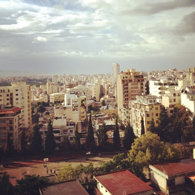 view of Beirut from hotel
