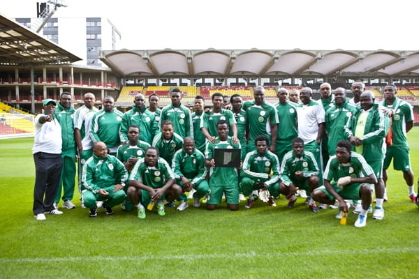 Snap shots from the recent shoot with the Nigerian football team