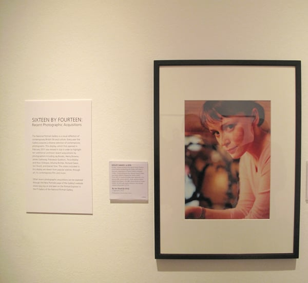 My photograph of Keeley Hawes displayed in the National Portrait Gallery.   Exhibition (sixteen by fourteen  http://www.npg.org.uk/whatson/display/2011/sixteen-by-fourteen-recent-photographic-acquisitions.php