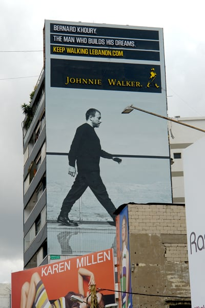 MY JOHNNIE WALKER BILLBOARD SPOTTED IN BEIRUT