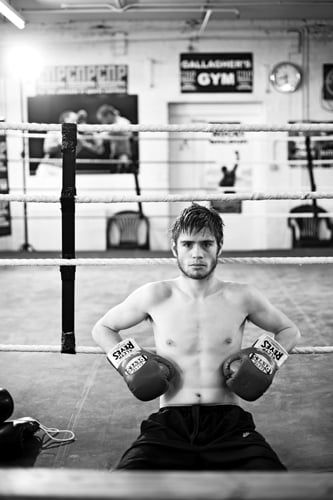 Joe Murray, shot at Gallagher's gym last week