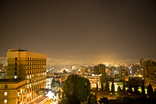 VIEW OF BEIRUT FROM MY HOTEL