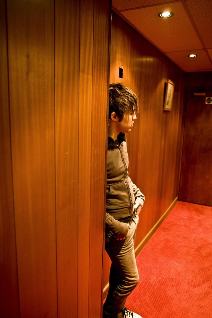 Pete about to go onstage