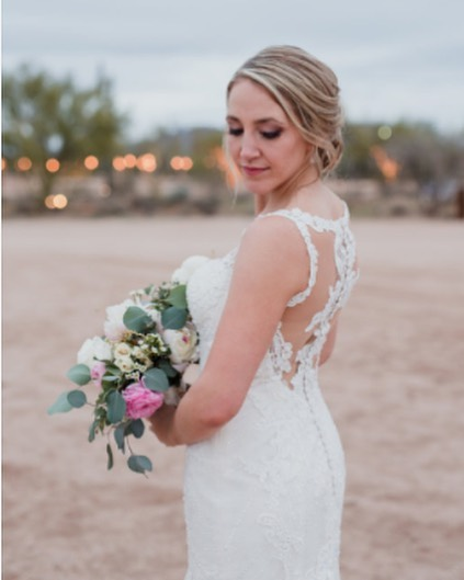 Loving this beautiful bridal look. You were such an absolute pleasure to work with @krisaeli You truly are gorgeous on both the inside and out. ✨Hair by @knottibymarissa and makeup by @jacs.ink 📸 @dinaremi And lastly, wedding planning by @whatadayweddings . . #phoenixbride #phoenixweddings #arizonabride #azwedding #desertwedding #mua #bridalhair #bridalmakeup #temptuairbrush