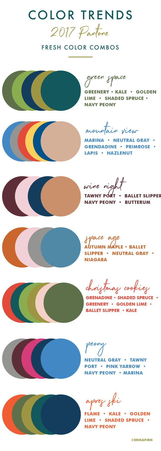 Here's the official 2017 Fall Colors.  You will likely find clothing lines in the stores using these colors.