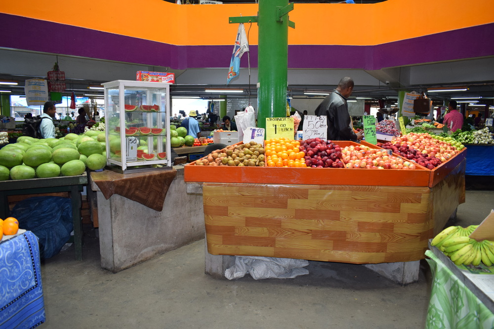 Suva fruit and veg market