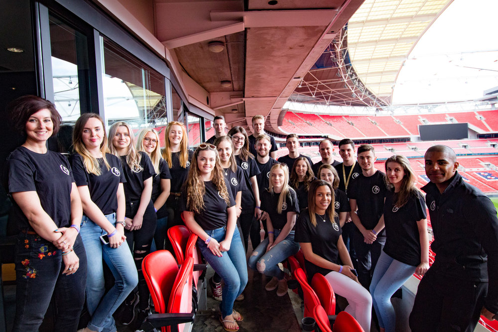 Travel Teacher | Volunteer training at Wembley Stadium, London