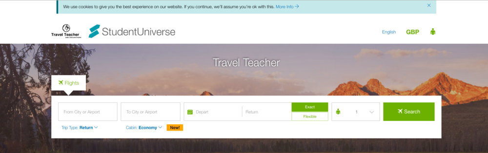 Travel Teacher in partnership with StudentUniverse