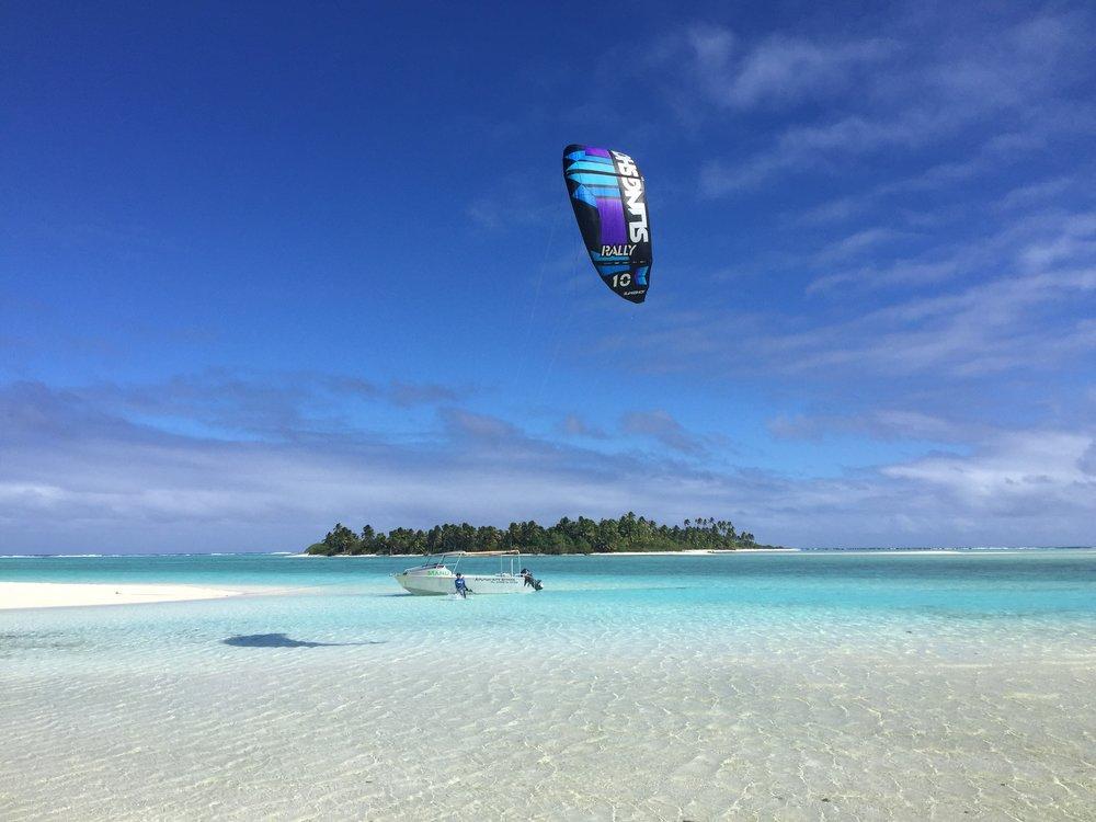 Kite boarding   Aitutaki