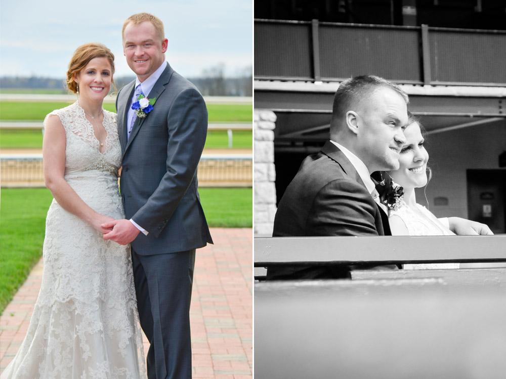 Wedding portraits at Keeneland Race Track