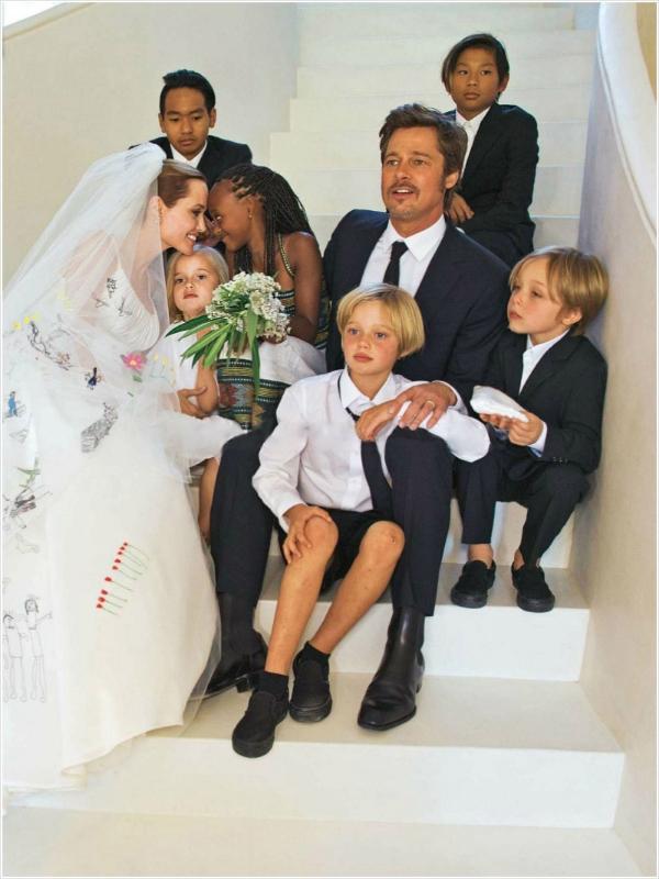 Editorial casamento Angelina Jolie e Brad Pitt em 2014.