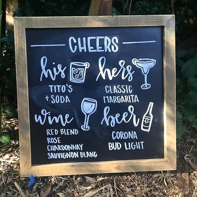 Cheers to all the brides and grooms out there that give me creative freedom on their signage 🍷🥂🍻🍹