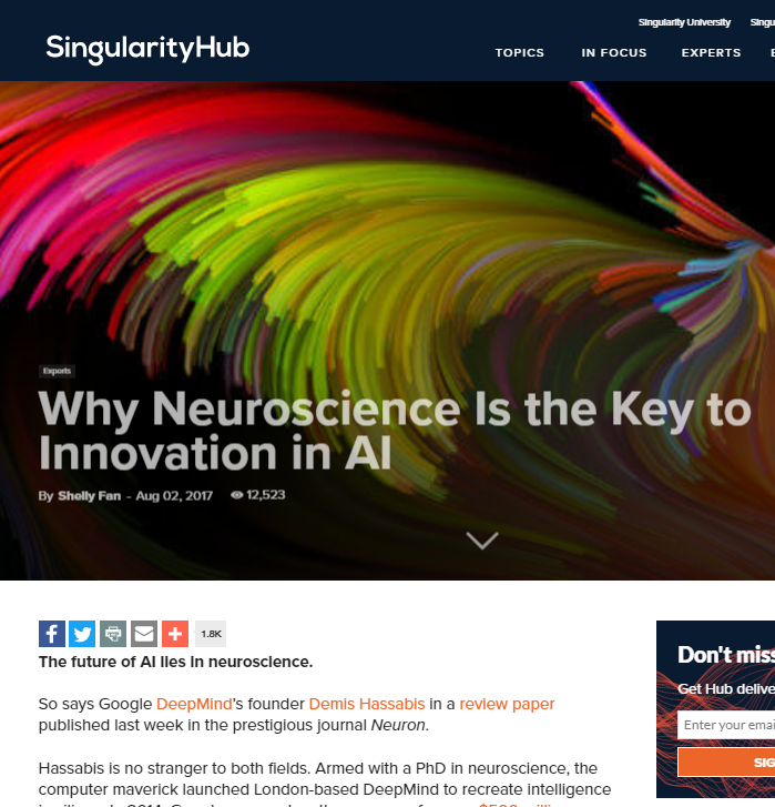 Neuroscience Is the Key to Innovation in AI