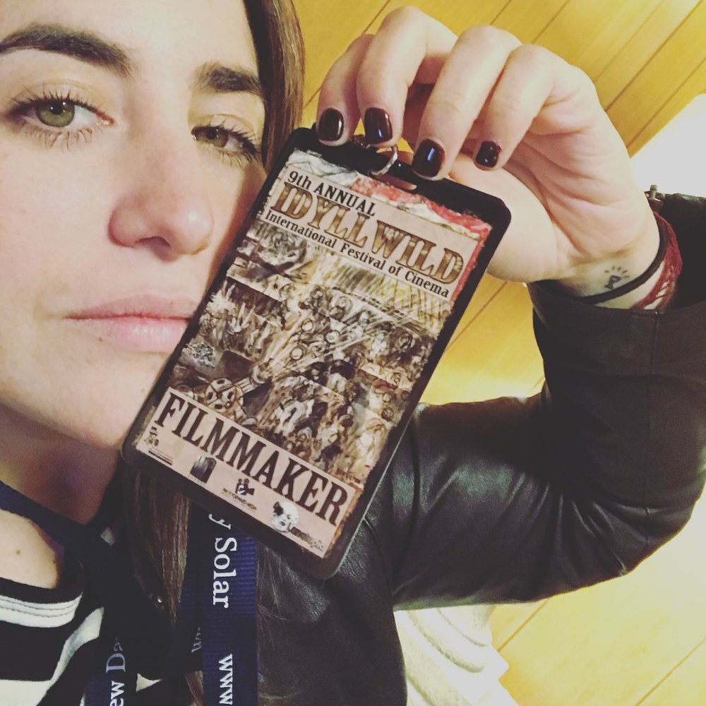 Lauren representing SO SOHA Season Two's FOUR (!!!) Nominations at Idyllwild International Festival of Cinema, March 2018