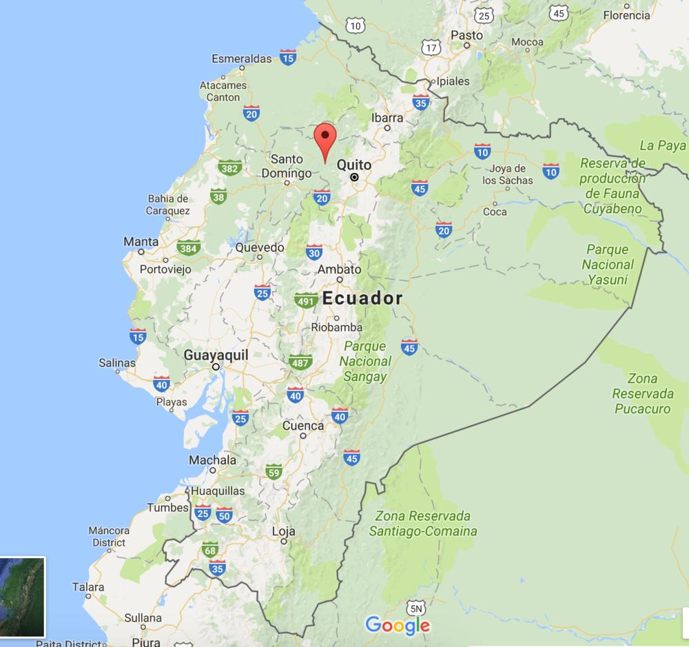 Mindo Ecuador map