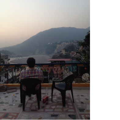 This was our view over the Ganges in Rishikesh, India