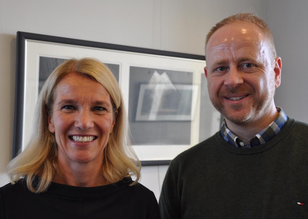 styreleder i universitetsfondet,STavangerordfører Christine sagen Helgø med Nils PEtter Oveland i search