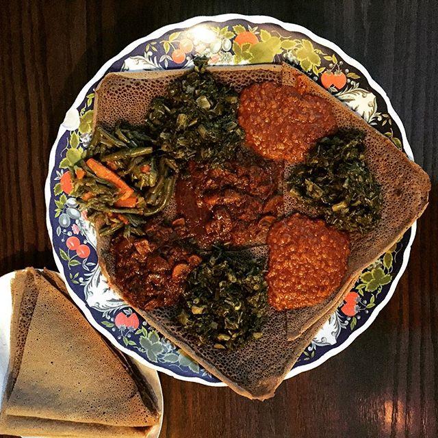 Mamma said eat your greens || #ghenet #ghenetbrooklyn #ethiopian #ethiopianfood #injera #injeranyc #nyc #nyceats #bk #brooklyneats