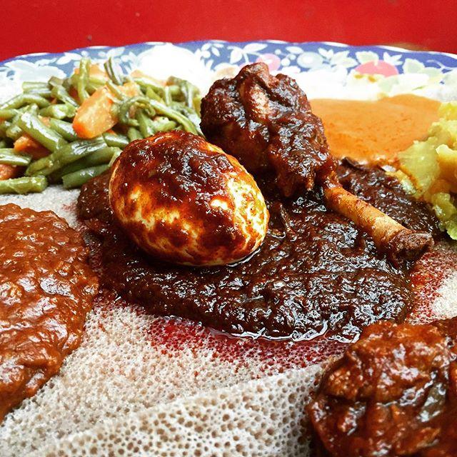 Spicy goodness || #ghenet #ghenetbrooklyn #ethiopian #ethiopianfood #injera #injeranyc #nyc #nyceats #eatingnyc #brooklyneats