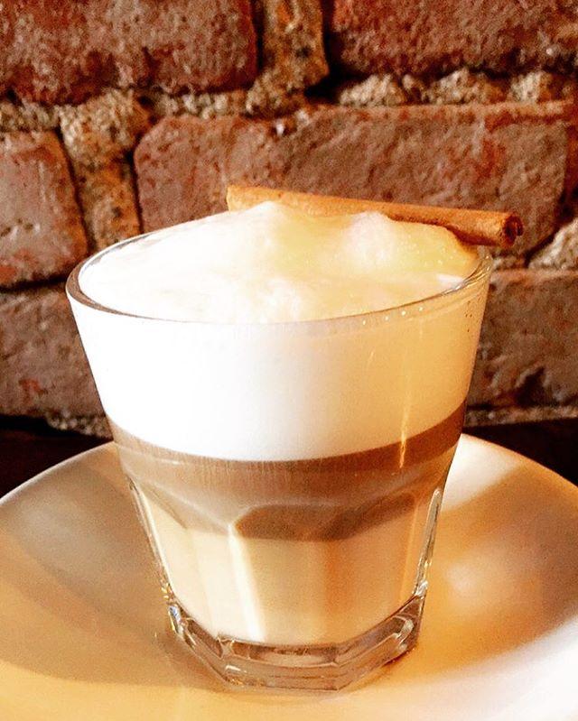 Macchiato with a touch of cinnamon 👌🏾|| #ghenet #ghenetbrooklyn #ethiopian #ethiopiancoffee #coffee #nyccoffee #nyceats #eatingnyc #brooklyn #NYCfoodie