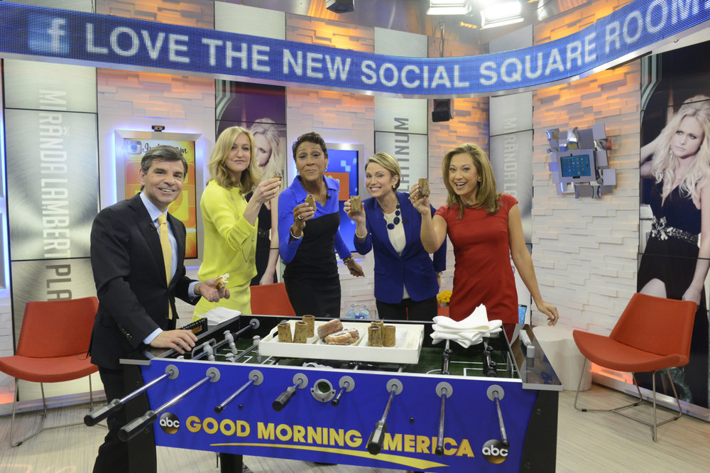 Springer noted that the room will also act as a waiting space for the show's guests. Guests can now answer questions from viewers, take a selfie, respond to tweets and pick the music that plays in the room while they wait to go on air, rather than waiting in a green room.     (via  Good Morning America Unveils Interactive Social Media Studio )